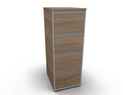 Stellar Wooden Filing Cabinets - 4 Drawer Filing Cabinet In Birch