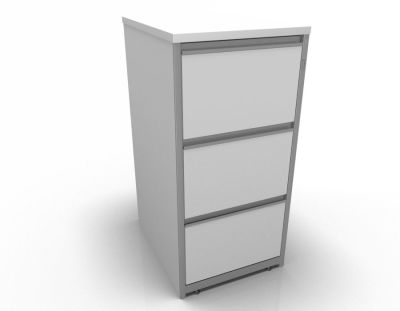Stellar Wooden Filing Cabinets - 3 Drawer Filing Cabinet In White
