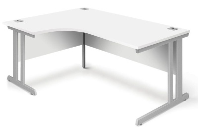 Trapido Left Hand Corner Desk In White