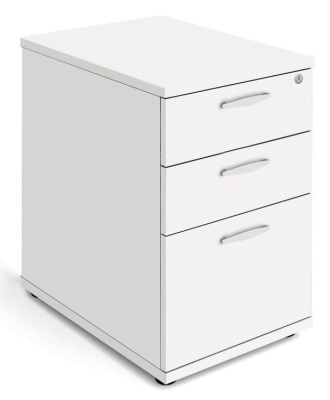 Trapido Desk Height Pedestal In White