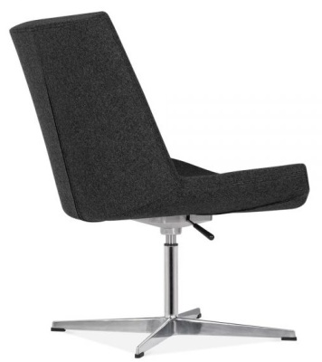 New Jersey Lounge Chair With Black Fabric Rear Angle