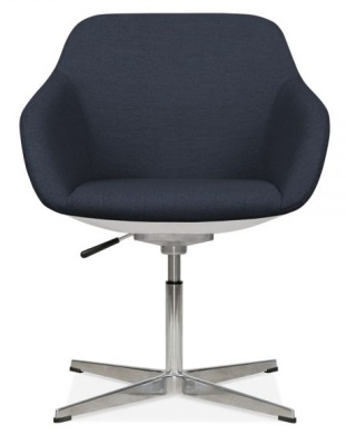 Mexico Thub Chair Dark Blue Fabric Front View