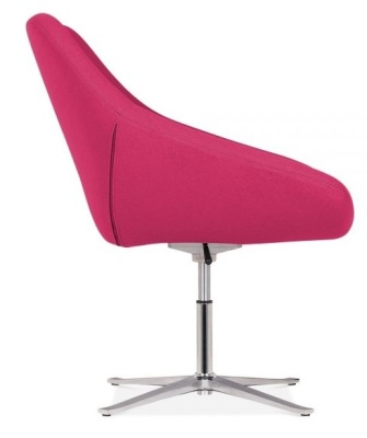 Maria Lounge Chair In Hot Pink Side View