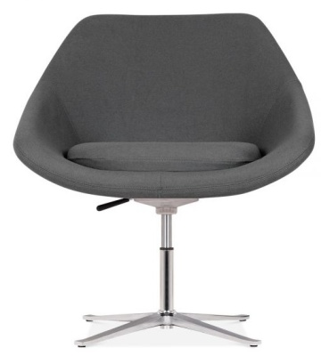 Maria Tub Chair In Dark Grey Fabric Front Face