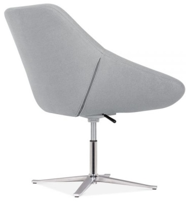 Maria Tub Chair In Cool Grey Rear Angle