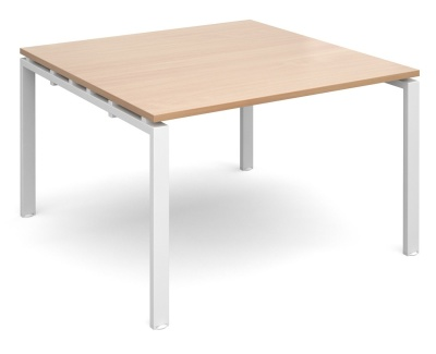 Exact Square Conference Tabe Beech Top With A White Frame