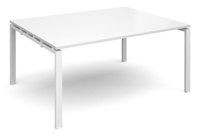 Exact Rectangular Strter Table With A White Top And White Frame