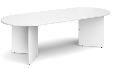 Dexter Oval Table White Finish