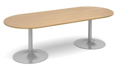 Tempest Oval Table With An Oak Top