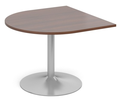 Tempest Half Moon Extension Table With A Walnut Top