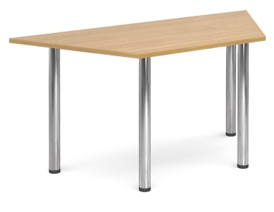 Gm Deluxe Trapzoidal Table Oak Top