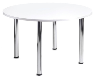 GM Circular Table With A White Top