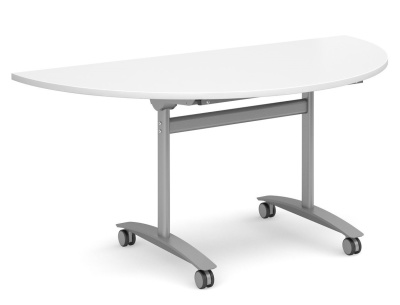 Gm Hlaf Moon Flip Top Table White Top
