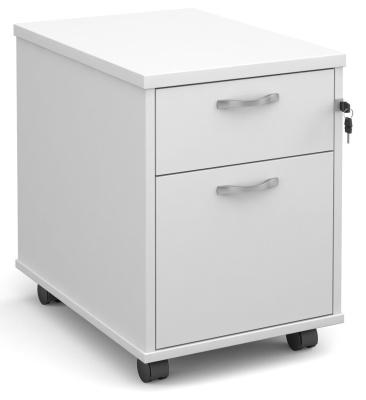 Momentum Two Darwer Mobile Pedestal In White