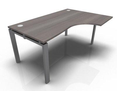 Right Hand Astro Desk- Cedar- Aluminium
