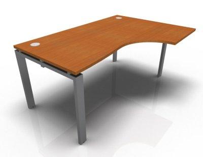 Right Hand Astro Desk- Cherrywood- Aluminium