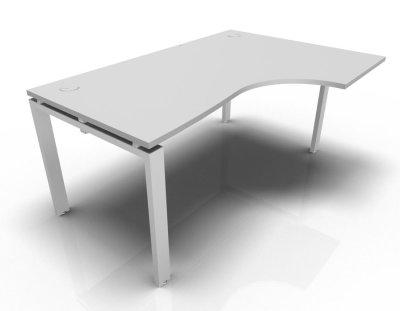 Right Hand Astro Desk- Light Grey- White