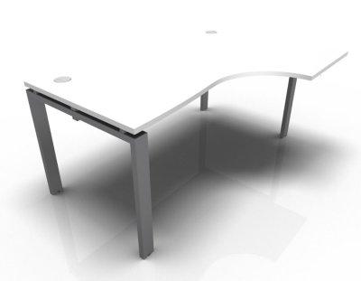Right Hand Astro Desk- White- Aluminium