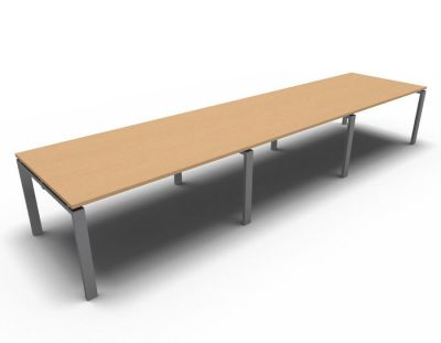 Astro Meeting Table- Beech- Aluminium