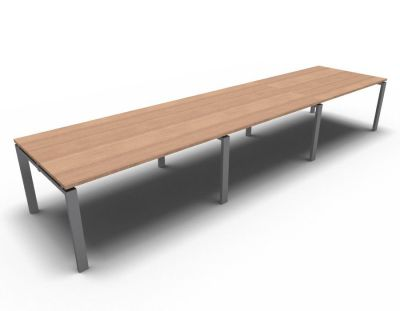 Astro Meeting Table- Natural Cherrywood- Aluminium