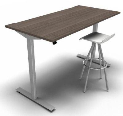 Height Adjustable Desk Anthracite White Frame Stool 2