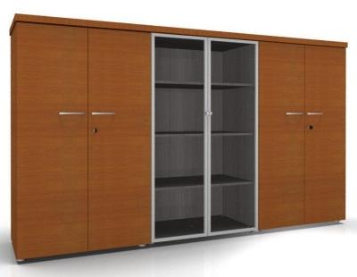 CO1 Storage Hinged Glass Doors Hinged Doors Cherrywood Cedar