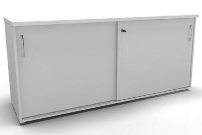 CO1 Storage Sliding Door Credenza- White