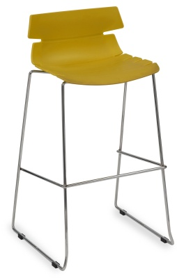Foxton Designer High Stool With A Mustard Seat