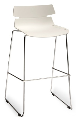 Foxton Designer High Stool With A White Seat