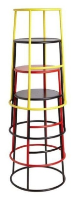 Maxine Metal High Stools Stacked