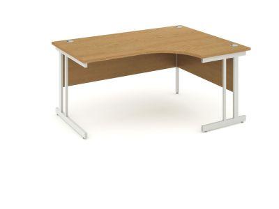 Revolution Right Hand Desk With Oak Top