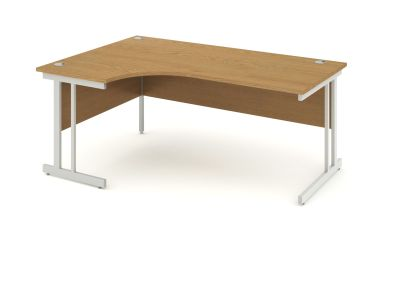 Revolution Left Hand Desk With Oak Top