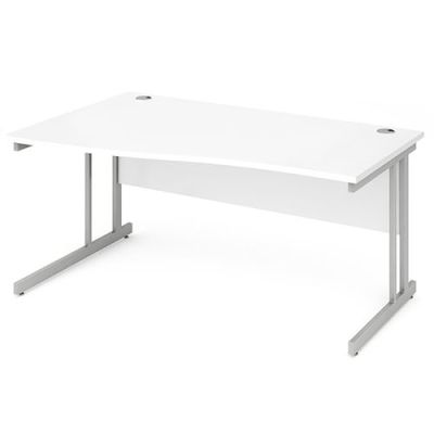 Revolution Left Hand Wave Desk With White Top