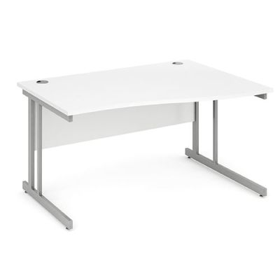 Revolution Right Hand Wave Desk With White Top