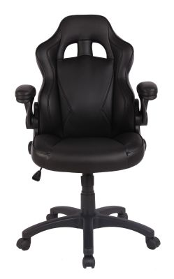 F1 Racer Chair Black Front View