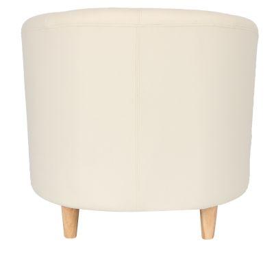 Tritium Tub Chair In Cream Rear View