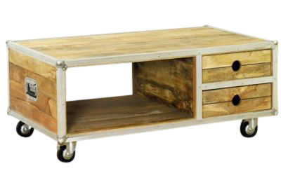 Roadie Open Coffee Table With Drawers
