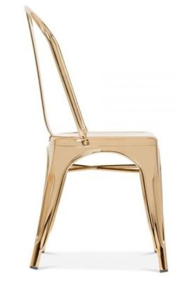 Xavier Pauchard Chair In Gold Side View