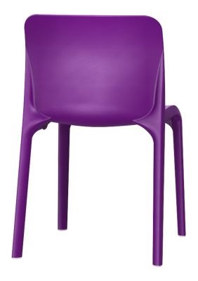 POp Chair In Blue Lilac Rear View
