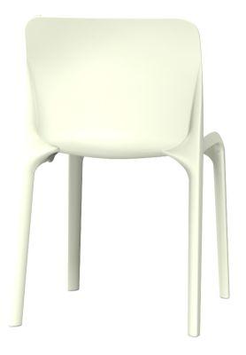Pop Chair In Cream Rear View