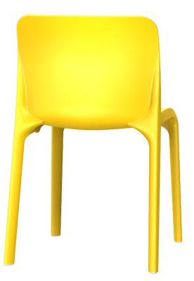 Pop Chair In Sulphur Yellow Rear View