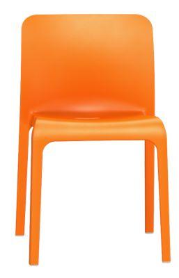 Pop Chair In Orange Front View