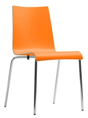 Star Designer Laminate Chair In Orange