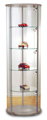 Expo 3 Round Glass Display Cabinet