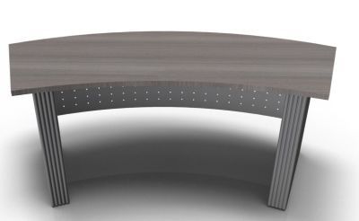 Direction Style Curved Desk Rear View