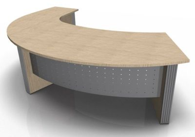 Direction Style Curved Desk And Curved Return Desk RH WO