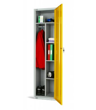 Combi Locker Yellow Door Facing Left Copy